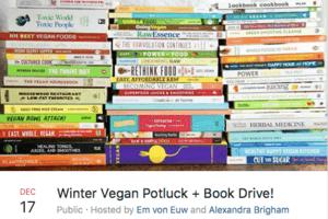 Winter Vegan Potluck and Book Drive